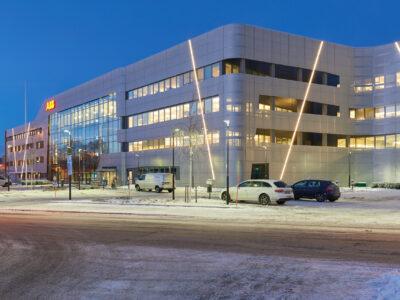 ABB:s kontor i Ludvika, som gestaltats av Archus arkitekter