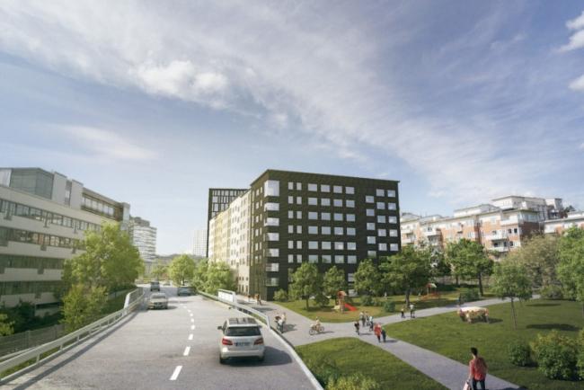 Grönt ljus för 230 nya bostäder, kontor, hotell och förskola i Arenastaden
