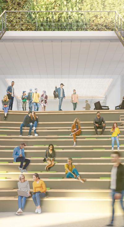 Skisser över ett nytt Campus i Dalarna där Archus bistår med projektledning