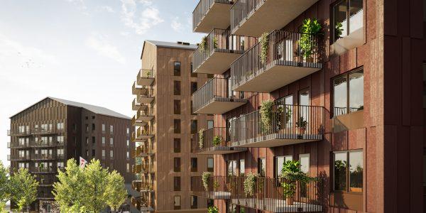 Kvarteret Bäckby i Västerås där Archus har bidragit med arkitektur och viktiga perspektiv inom hållbarhet