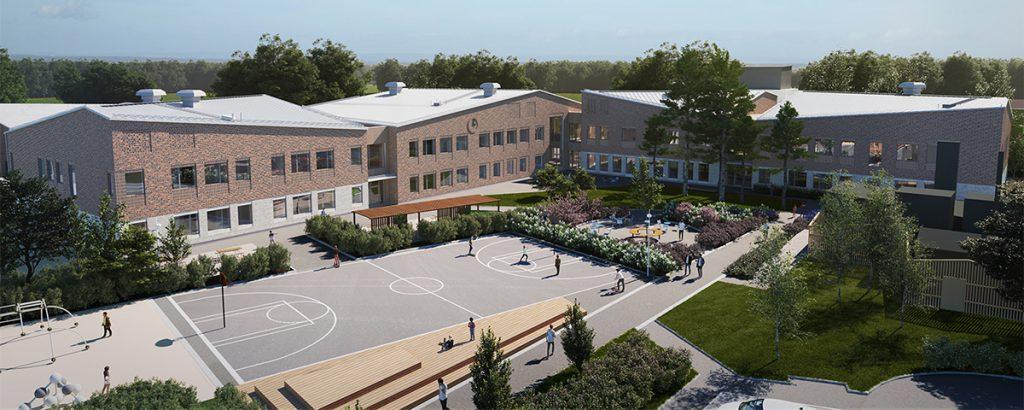 Spaden i backen för nytt skolhus för Irstas högstadieelever