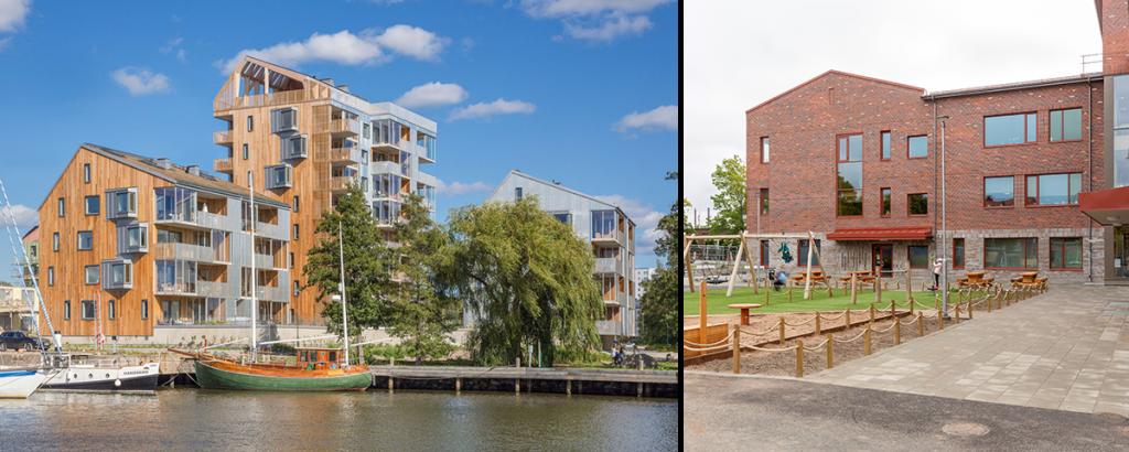 Nyhet: Två av fem projekt som nominerats till Sveriges Arkitekters Arkitekturpris är ritade av Archus