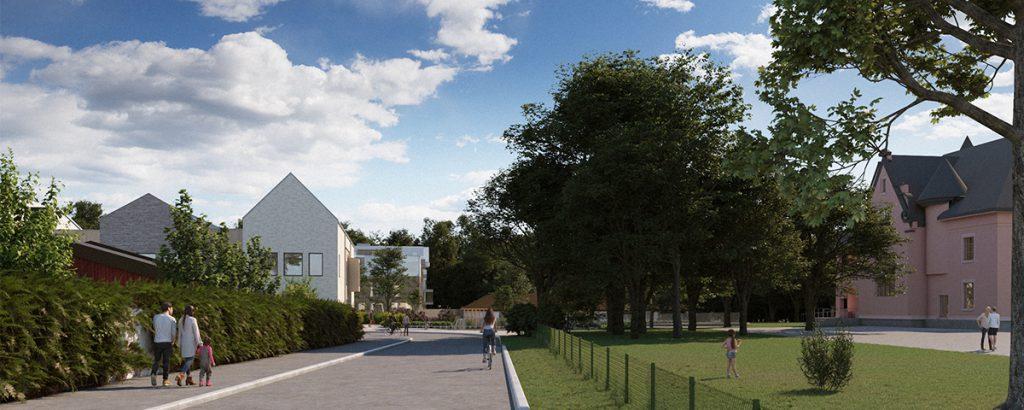 Nyhet: Nedlagda tennisbanor blir ett spännande bostadskvarter och ny skola i kulturhistorisk miljö