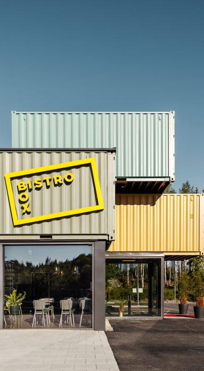 Archus container resturang Bistrobox inredning och koncept
