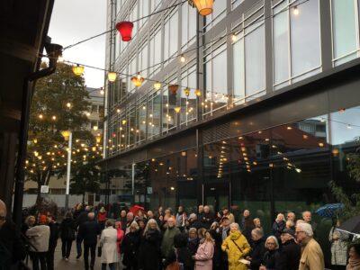 Invigningen av gränden vid stationen i Uppsala, som Archus landskapsarkitekter gjort till en tryggare och mer urban plats