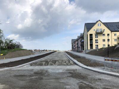 Stadsbyggnationen av Slottsbys allmänna platsmark